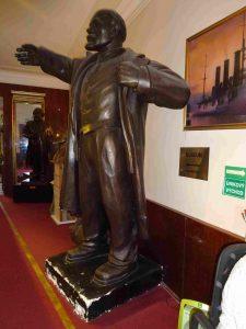 Lenin in Praag standbeeld in museum