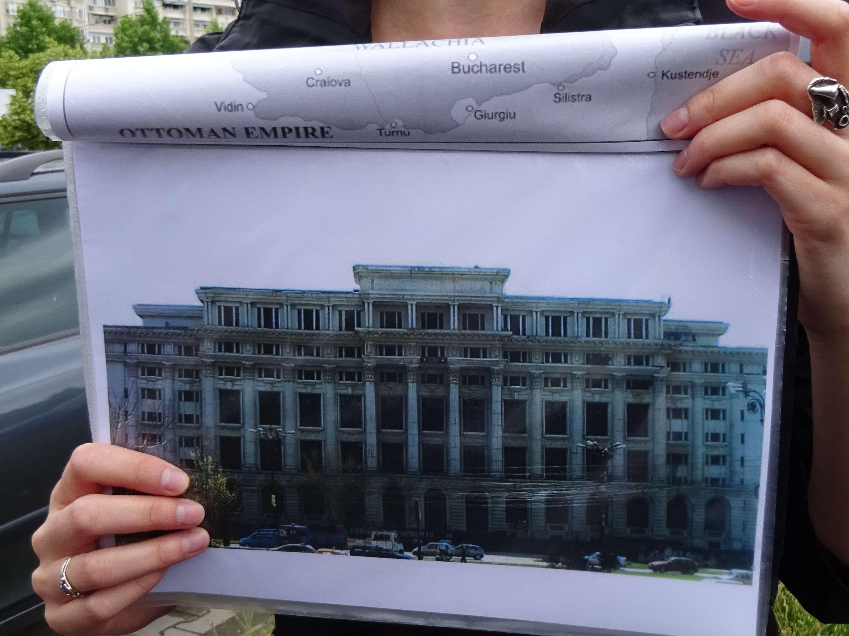 Oorspronkelijk gevel van bibliotheek Boekarest
