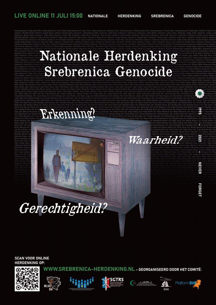 Flyer Herdenking Srebrenica genocide 2021