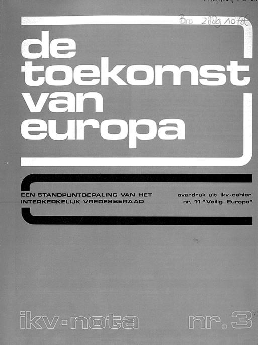 Omslag 'Toekomst van Europa' nota IKV 1972
